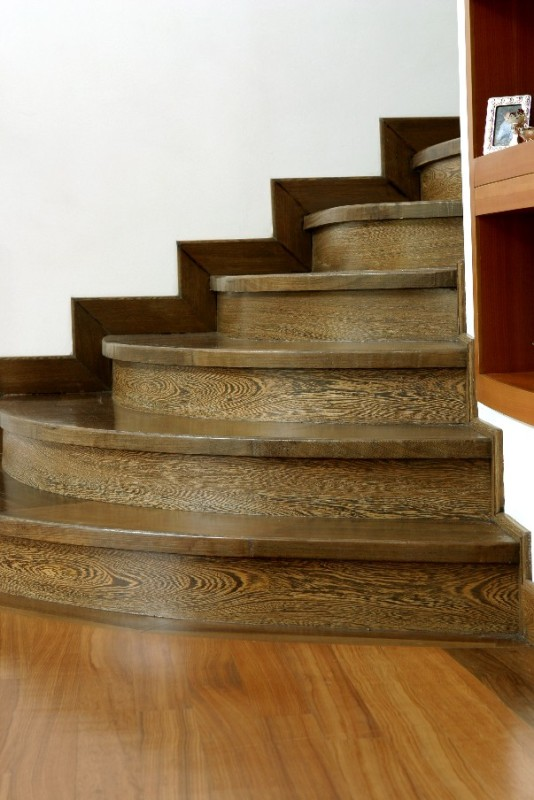Wenge solid stair