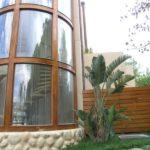 Teak Burma παράθυρα κυλινδρικα και φραχτης